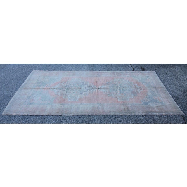 Image of Vintage Turkish Oushak Hand Knotted Rug - 5'2 X 11'5