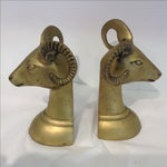 Image of Vintage Brass Rams Book Ends