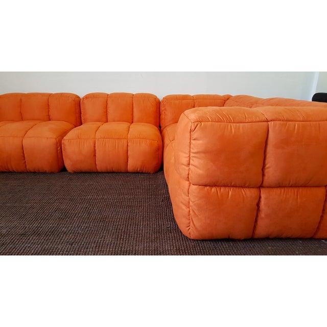 1970s Monumental Tufted Modular Sofa