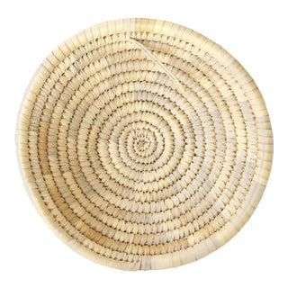 Vintage Woven Neutral Coil Basket