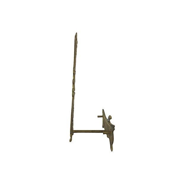 Figural Brass Plate Holder - Image 3 of 3
