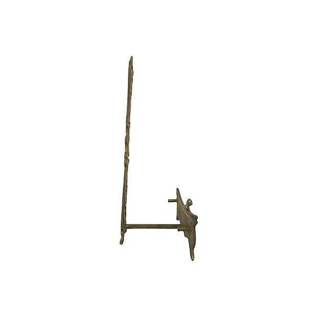 Image of Figural Brass Plate Holder