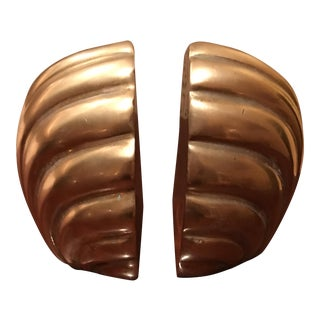Hollywood Regency Shell Bookends - A Pair