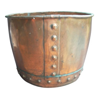 Large Copper Cachepot or Planter