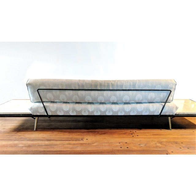 Pearsall Sofa & Attached Travertine End Tables - Image 6 of 10