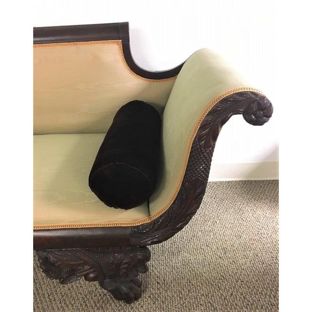 C. 1860s Duncan Phyfe Style Mahogany Empire Sofa - Image 4 of 10