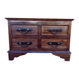 Antique French Rustic Oak Buffet Sideboard Cabinet
