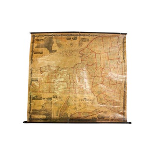 Pre-Civil War New York Pull Down Map
