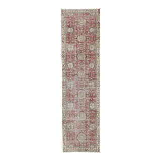 Vintage Turkish Oushak Runner Rug - 2′10″ × 10′8″