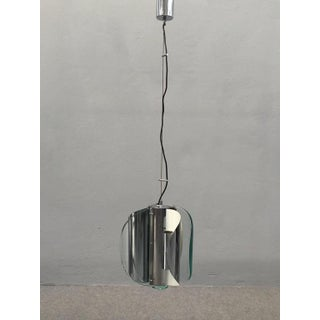 Fontana Arte Chrome and Glass Fixture
