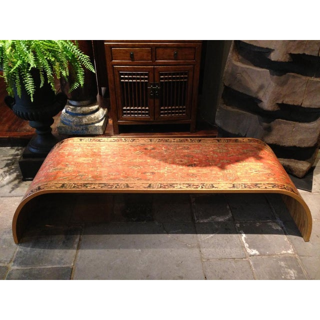 Lamou Persian Rug Printed Wood Coffee Table - Image 3 of 7