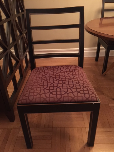 hickory black wood dining room chairs set of 4 chairish