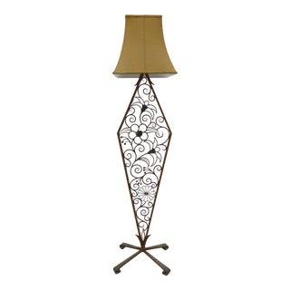 1920's American Art Deco Iron Floor Lamp
