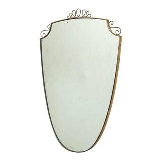 Gio Ponti Style Italian Shield Mirror
