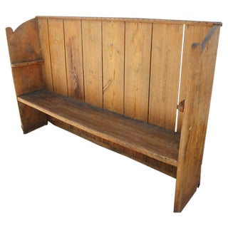Early 19th Century Handmade Rustic Settle from the Mid West