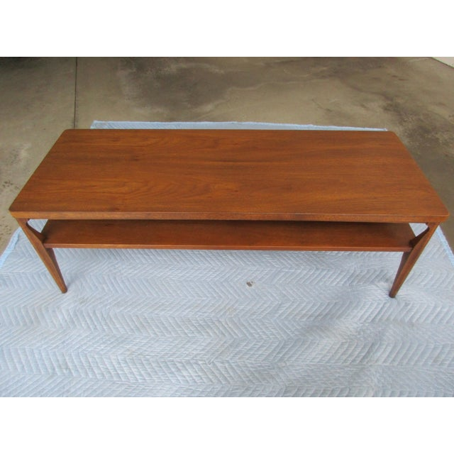 Broyhill Saga Mid-Century Modern Two Tier Coffee Table