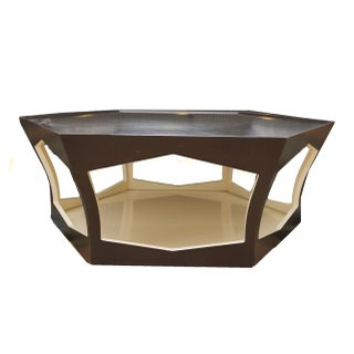 Holly Hunt Hexagonal Wood Coffee Table