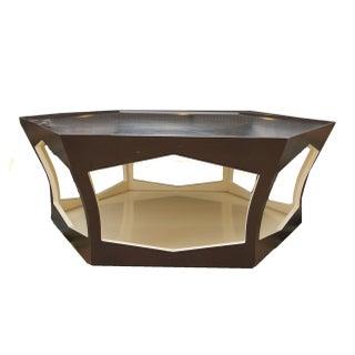 Holly Hunt Hexagonal  Wood Coffee Table