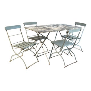 Antique French Bistro Dining Set