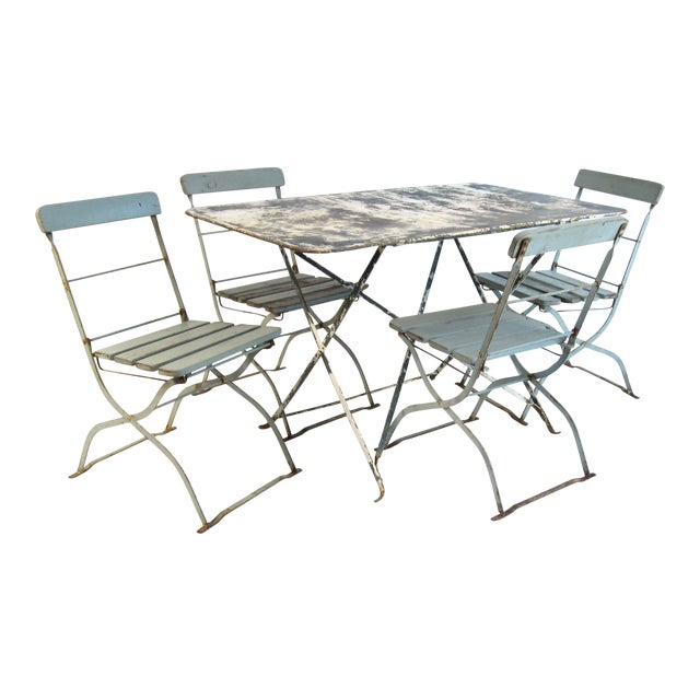 Antique French Bistro Dining Set - Image 1 of 8