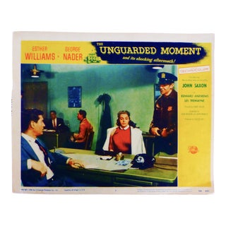 """1956 Film Noir, """"The Unguarded Moment"""" With Esther Williams Lobby Card"""