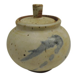 Mid-Century Ceramic Covered Sugar Bowl