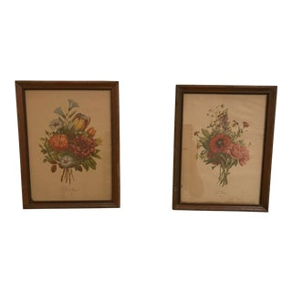 Mid-Century Framed Botanicals - A Pair