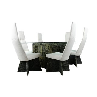 Adrian Pearsall Brutalist Dining Set - Set of 7