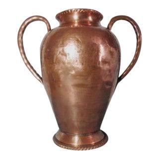 Belgian Hammered Copper Vase