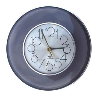 Vintage 1970's Smoked Lucite Wall Clock