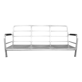 1945 Emeco Aluminum US Navy Captain's Couch