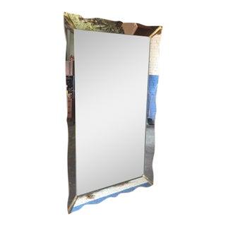 Mid-Century Scalloped Edge Mirror