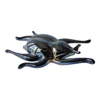 Art Glass Beetle Paper Weight
