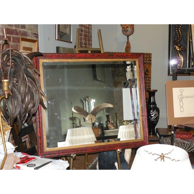 Grand Regency Style Faux Tortoise Mirror - Image 6 of 6