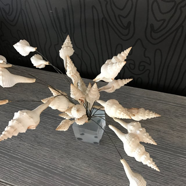 Seashell Bouquet Sculpture - Image 6 of 8