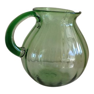 Artisan Blown Glass Pitcher