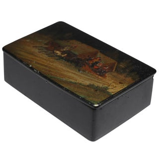 Early 20th-C. Russian Lacquer Box