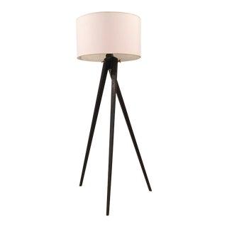 E.F. Chapman Modern Tudor Brown Tripod Floor Lamp