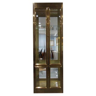Mastercraft Brass & Glass Vitrine / Display Cabinet