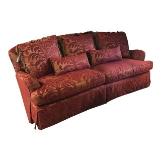 Century Furniture Regency Style Burgundy Down Filled Sofa