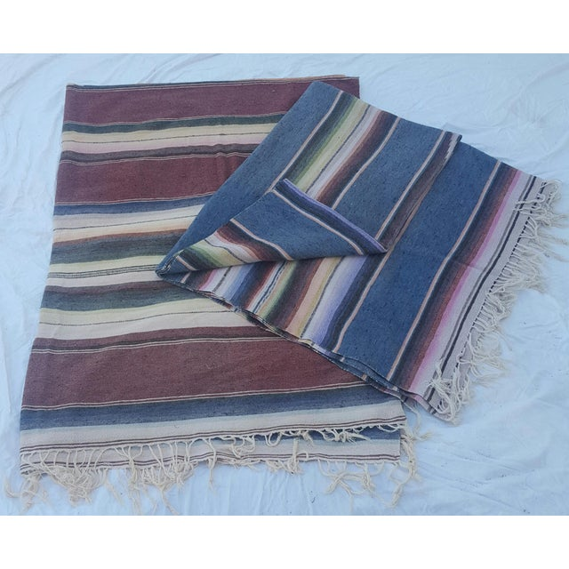 Mexican Serape Throws - A Pair - Image 2 of 4