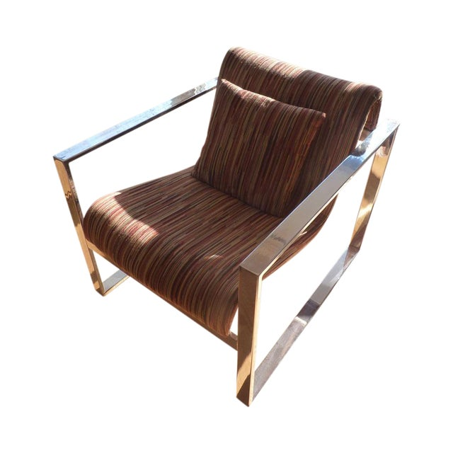 Milo Baughman MCM Chrome Lounge Chair