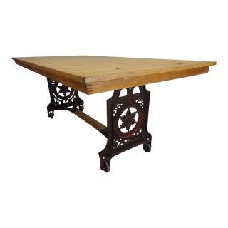Antique Swedish Iron Base Table