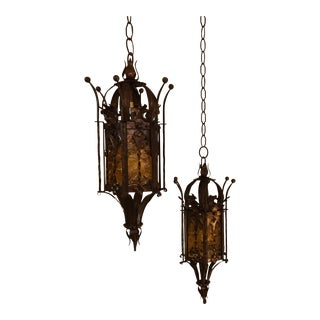 Mexican Wrought Iron Lights - A Pair