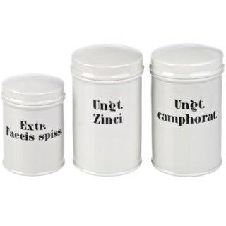 Vintage Porcelain Apothecary Jars - Set of 3