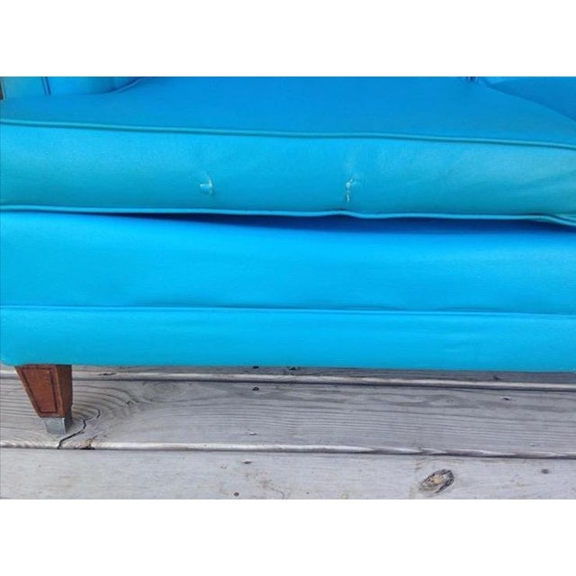 Mid-Century Modern Turquoise Sofa - Image 6 of 11