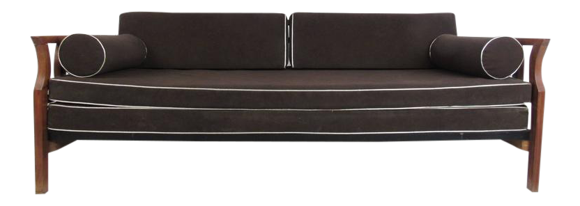 vintage modern sculptural sofa or day bed