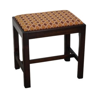 Chippendale Style Solid Mahogany Stool