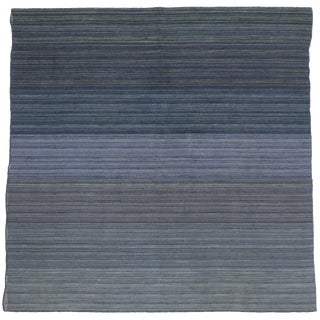 Contemporary Modern Flat-Weave Rug - 7′ × 7′1″