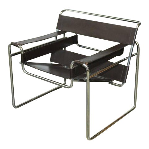 marcel breuer mid century wassily chair for stendig chairish. Black Bedroom Furniture Sets. Home Design Ideas